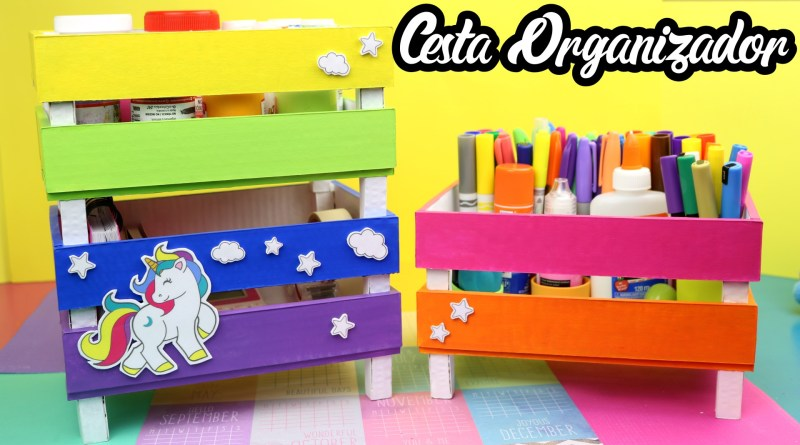 Canasta Organizador Unicornio