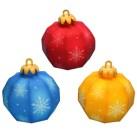 Papercraft de adornos de bolas para árbol de Navidad. Manualidades a Raudales.