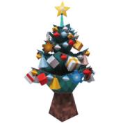 Papercraft imprimible y armable de un árbol de navidad con adornos / Christmas tree. Manualidades a Raudales.