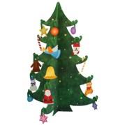 Papercraft imprimible y armable de un mini árbol de Navidad básico. Manualidades a Raudales.