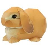 Papercraft imprimible y armable de un Conejo Holland Lop / Holland Lop Rabbit. Manualidades a Raudales.
