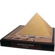 Papercraft building imprimible y armable de la Gran Pirámide de Kufu en Egipto. Manualidades a Raudales.