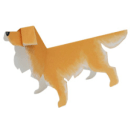 Papercraft del perro Golden Retriever. Manualidades a Raudales.