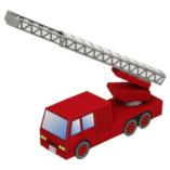 Papercraft imprimible y armable de un Camión de bomberos / Fire engine. Manualidades a Raudales.