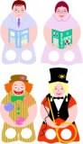 Marionetas dedos de las profesiones 4. Manualidades a Raudales.
