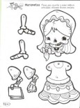 Marioneta de un esqueleto femenino. Manualidades a Raudales.