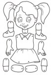 Marioneta de una niña. Manualidades a Raudales.