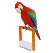 Papercraft imprimible y armable de un Guacamayo rojo. Manualidades a Raudales.