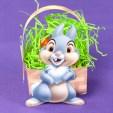 Easter - Cesta de huevos con conejo. Manualidades a Raudales.