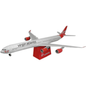 Papercraft imprimible y armable del Airbus 340-600. Manualidades a Raudales. Manualidades a Raudales.