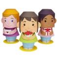 Papercraft muñecos con mensaje para el día de la Madre. Manualidades a Raudales.