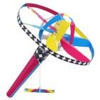 Papercraft imprimible y armable de un Volador helicóptero multicolores. Manualidades a Raudales.