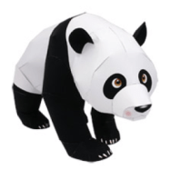 Papercraft imprimible y armable de un Panda Gigante / Giant Panda. Manualidades a Raudales.