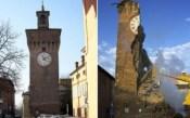 Papercraft imprimible y armable de la Torre Dell´Orologio en Italia. Manualidades a Raudales.