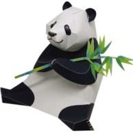 Papercraft imprimible y armable de un Oso Panda / Giant Panda. Manualidades a Raudales.
