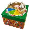 Papercraft de una Tarta en porciones. Manualidades a Raudales.