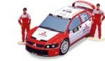 Papercraft recortable de Mitsubishi Lancer WRC. Manualidades a Raudales.