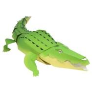 Papercraft imprimible y armable de un Cocodrilo / Crocodile. Manualidades a Raudales.