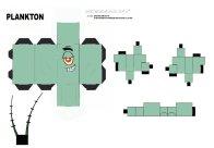 Cubeecraft de personajes de Bob Esponja. Plankton. Manualidades a Raudales.