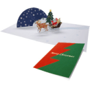 Tarjeta desplegable trineo de Santa Claus. Manualidades a Raudales.