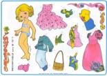 Paper dolls / Recortable muñecas.  Manualidades a Raudales.