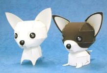 Papercraft imprimible y recortable de perros Chihuahuas. Manualidades a Raudales.