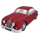 Papercraft imprimible y armable del coche Jaguar mk2. Manualidades a Raudales.