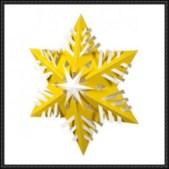 Papercraft imprimible y armable de un adorno de cristal de nieve. Manualidades a Raudales.
