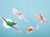 Móvil de aviones. Manualidades a Raudales.