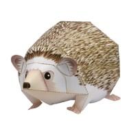 Papercraft imprimible y armable del Erizo de Vientre Blanco / Four Toed Hedgehog. Manualidades a Raudales.