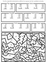 Colorear con sumas 06. Manualidades a Raudales.