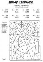 Colorear con sumas 15. Manualidades a Raudales.