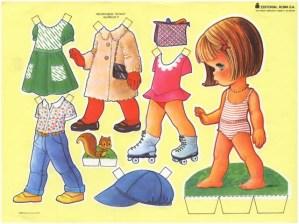 Paper dolls / Recortable de muñecas 40. Manualidades a Raudales.