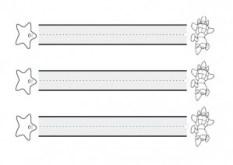 Grafomotricidad de líneas horizontales. Manualidades a Raudales.