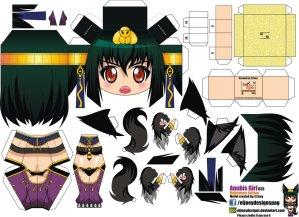 Papercraft de Anime - Anubis Girl. Manualidades a Raudales.