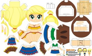 Papercraft de Anime - Apple Jack. Manualidades a Raudales.