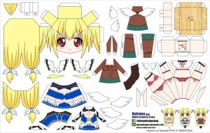 Papercraft de Anime - Astraea. Manualidades a Raudales.