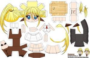 Papercraft de Anime - Centorea Shianus. Manualidades a Raudales.