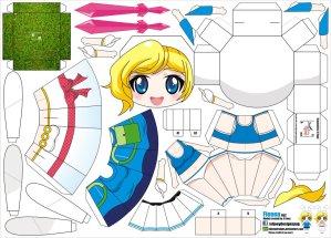 Papercraft de Anime - Fionna. Manualidades a Raudales.