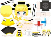 Papercraft Anime - Kamitsure. Manualidades a Raudales.