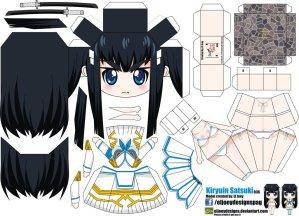 Papercraft Anime - Kiryuin Satsuki. Manualidades a Raudales.