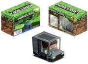 Papercraft recortable y armable de un camión de Minecraft. Manualidades a Raudales.