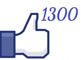 1300 seguidores en Facebook. Gracias.