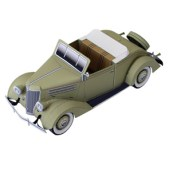 Papercraft imprimible y armable del Ford Cabriolet. Manualidades a Raudales.