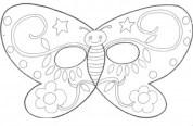 Máscara Mariposa. Manualidades a Raudales.