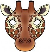 Máscara jirafa. Manualidades a Raudales.