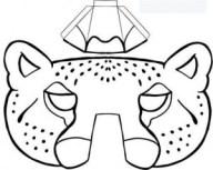 Máscara leopardo. Manualidades a Raudales.