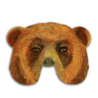 Máscara de oso. Manualidades a Raudales.