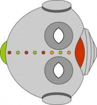 Máscara de robot. Manualidades a Raudales.