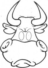Máscara de toro. Manualidades a Raudales.